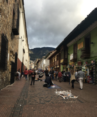 A walkthrough of downtown Bogota near Bolivar Square. (2016)