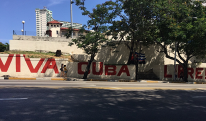 Cuban pride in the streets of Havana. (2017)